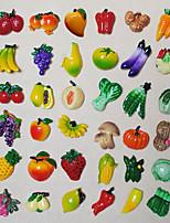 1Pcs Resin Vegetables Fruit Style Kitchen Fridge Magnet Sheet Funny Gift(Random Color)