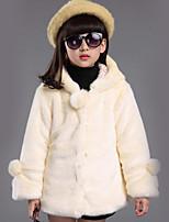 Girl's Pink / Red / Beige Jacket & Coat Cotton Winter