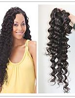 non trasformati onda profonda 7a brasiliana remy dei capelli umani di colore naturale dei capelli di trama fasci capelli del tessuto
