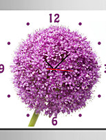 E-HOME® Pink Hydrangea Clock in Canvas 1pcs