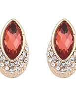 Beautiful Colorful Female Long Statement Earrings Fashion Jewelry Bridal Wedding Vintage Full Rhinestone Stud Earrings