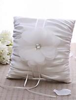 Ring Pillow Satin Vegas Theme / Floral ThemeWithPetals