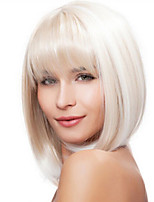 Fashion Natural Straight of High Quality White Color Synthetic Wigs