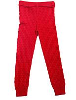Girl's Black / Red / Gray Leggings,Stripes Cotton Spring / Fall