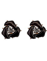 Bohemian Style Retro Geometric Stud Earrings With Rhinestone Vintage Women Nice Jewelry