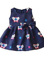 Girl's Dress,Cotton Summer / Spring Blue