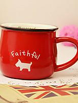 classique créative céramique rouge tasse tasse