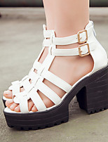 Women's Shoes Split Sole Platform/Gladiator/Open Toe Sandals/Heels Party & Evening/Dress/Casual Black/White
