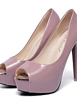 Women's Shoes Leatherette Stiletto Heel Heels / Peep Toe Heels Party & Evening Black / Pink / White