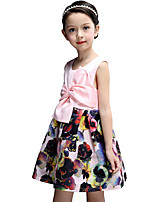 Girl's Dress,Cotton Summer Pink