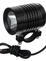 exLED 10W 12V DIY Car Motorcycle LED High Beam Light / High Quality Motorbike Super Bright Light - Black