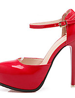 Women's Heels Fall Comfort PU Casual Stiletto Heel Buckle Black / Pink / Red / White / Gray Others