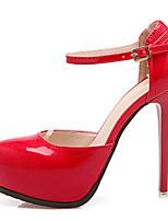 Damen-High Heels-Lässig-PU-Stöckelabsatz-Komfort-Schwarz / Rosa / Rot / Weiß / Grau