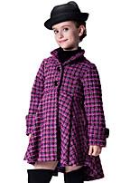 Girl's Purple Jacket & Coat Cotton Spring