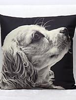 3D Dog Pattern Velvet Pillowcase Sofa Home Decor Cushion Cover (18*18inch)