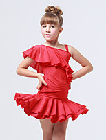 Accesorios(Negro / Fucsia / Rojo,Espándex / Poliéster,Danza Latina) -Danza Latina- paraNiños Frunce / Arrugas Entrenamiento