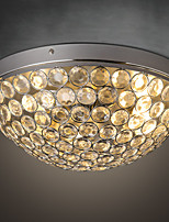 Modern Classic Black Metal Ceiling Lights with Crystal Shades, Living room Bedroom Dining Room Hallway Balcony