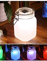 Big LED Color Changing Light Wishing Solar Powered Lantern Transparent Glass Lamp Party Path Landscape Lights