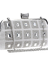 L.west Women Pearl Diamonds Evening Bag