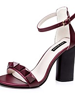 Women's Shoes Silk Stiletto Heel Heels Sandals Casual Black / Pink / Gray / Burgundy