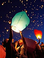 Wishing Lanterns Flying Balloons Lights Halloween Lights Chinese Kongming Laterns Paper Candle Wish Lamp(Ramdon Color)