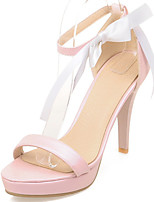 Women's Shoes Stiletto Heels/Platform Sandals Party & Evening/Dress Pink/White