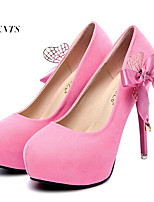 Women's Shoes Fleece Stiletto Heel Heels Heels Wedding / Party & Evening Black / Pink / Red