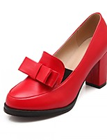 Women's Shoes Leatherette Chunky Heel Heels Heels Office & Career / Party & Evening / Dress Black / Yellow / Pink / Red