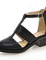 Women's Shoes Leatherette Chunky Heel Heels Heels Outdoor / Office & Career / Dress Black / Gray / Almond