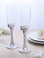Lead-free Glass Toasting Flutes-1 pair Piece/Set