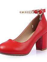 Women's Shoes Leatherette Chunky Heel Heels Heels Outdoor / Office & Career / Dress Black / Red / White