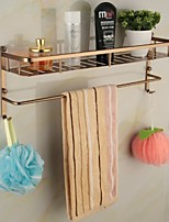 50cm Antique Aluminum Anodizing Wall Mounted Bathroom Shelf
