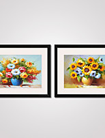 Sunflowers in a Vase  Modern Canvas Print Art Set of 2 for Home Decoration Ready To Hang