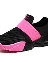 Черный / Синий / Красный-Женская обувь-Для прогулок / Для занятий спортом / На каждый день-Полотно-На плоской подошве-Удобная обувь / С