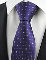 New Purple Flora Checked Pattern Men's Tie Necktie Wedding Holiday Gift KT0066