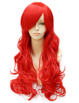 Fashion Natural Golden Waves of High Quality Red Color Synthetic Hair