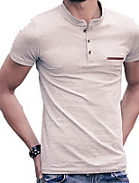 In summer men's short sleeve T-shirt collar Korean youth size Polo solid slim half sleeve shirt trend