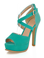 Women's Shoes PU Stiletto Heel Heels / Peep Toe / Platform Sandals Party & Evening / Dress / Casual