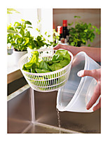 Sweden TOKIG Salad Spinner Lettuce Fruit Vegetable Dryer Strainer Colander Dryer White Color Dia24x15cm