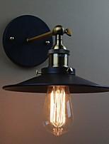 YouOKLight® Industrial retro wall lamp E27 lamp holder 100-240V - Black