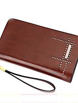 VENETA Men PU Knucklebox Clutch / Wallet-Brown / Khaki
