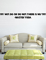 W-16 Mater Yoda STAR WARS WALL STICKER Try Not Wall Decal Home Decoration Removable Bedroom Sticker