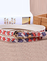 Women Leather Fresh Skinny Belt,Vintage / Cute / Party / Casual Alloy