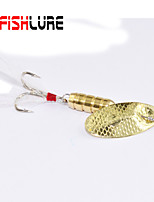 Afishlure Metal Bait Jigs Buzzbait & Spinnerbait Spoons Trolling Lure 4pcs 7g/1/4 oz. 80mm /3-1/4