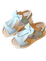 Girls' Shoes Dress / Casual Comfort Leatherette Sandals Blue / Pink / White