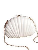 Women Other Leather Type Sling Bag Shoulder Bag / Evening Bag-White / Gold / Black