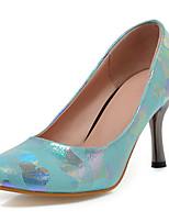 Zapatos de mujer-Tacón Stiletto-Tacones / Puntiagudos-Tacones-Casual-Semicuero-Negro / Azul / Rosa / Rojo / Blanco