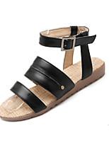 Zapatos de mujer-Tacón Plano-Chanclas-Mocasines-Casual-Sintético / Semicuero-Negro / Marrón / Blanco