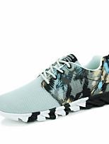 herresko casual / reise / utendørs tyll skinn mote joggesko kjører blad såler sko svart / bule / grå 39-44