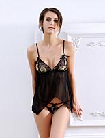 Women Sexy Strap Babydoll & Slips Nightwear,Nylon / Polyester